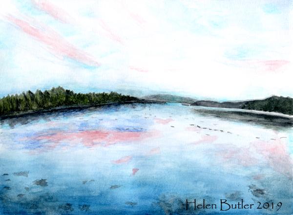 Summer in Lochgilphead - watercolour
