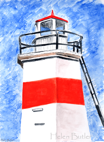 Crinan Canal Lighthouse  - watercolour
