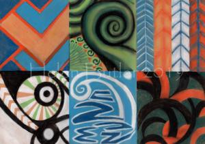Maori style art - pastel