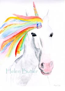 Unicorn  - watercolour