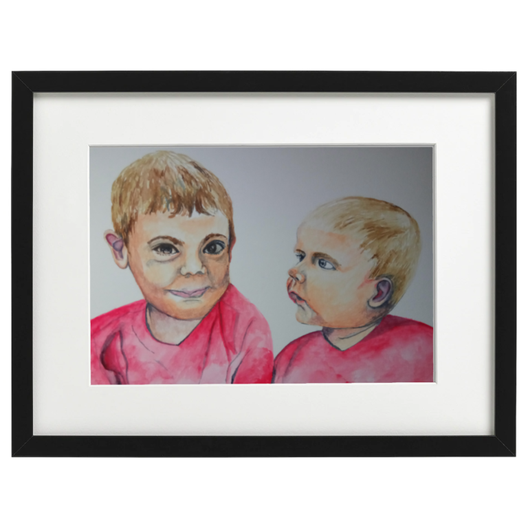 Andy and Alex - watercolour