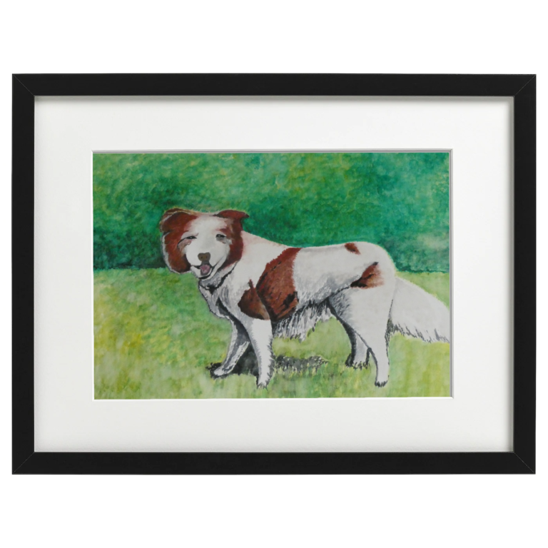 Benji the Dog - watercolour