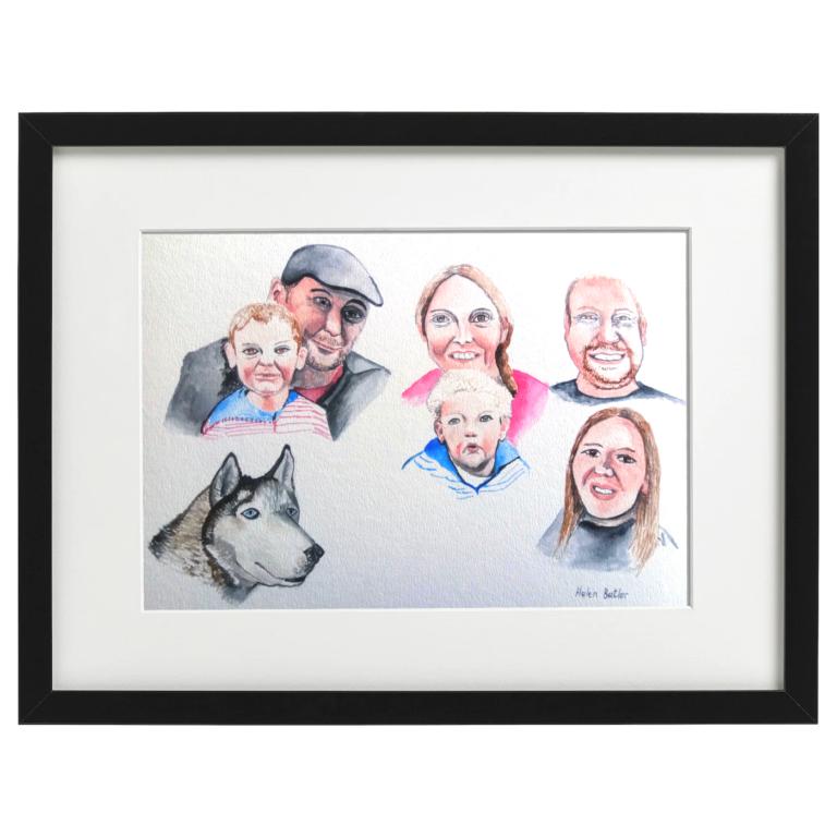 Family Portrait - Watercolour