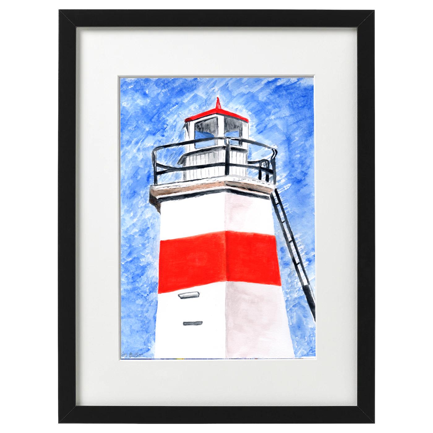 Crinan Canal Lighthouse - watercolour