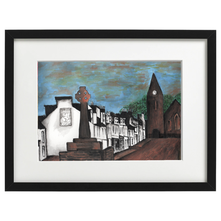 Lochgilphead - Watercolour and ink