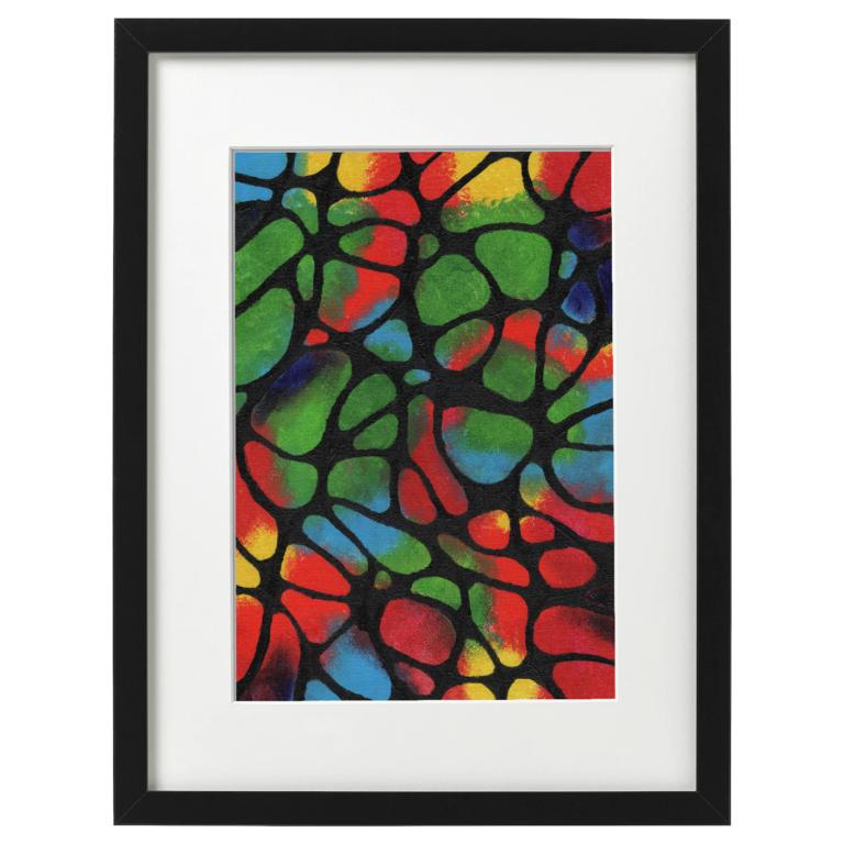 Neurographic art - acrylic on A4 canvas board