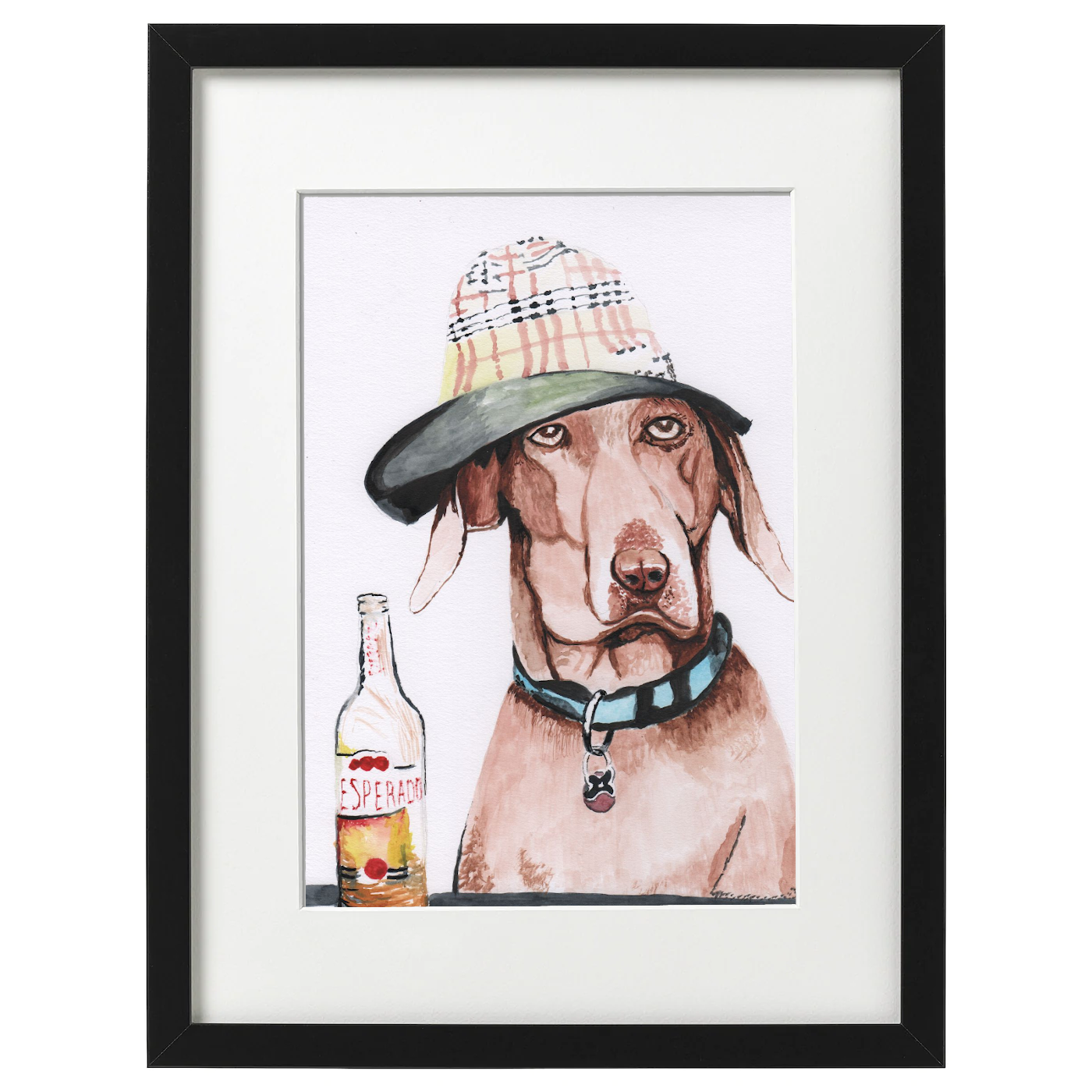 Oscar the Dog - watercolour