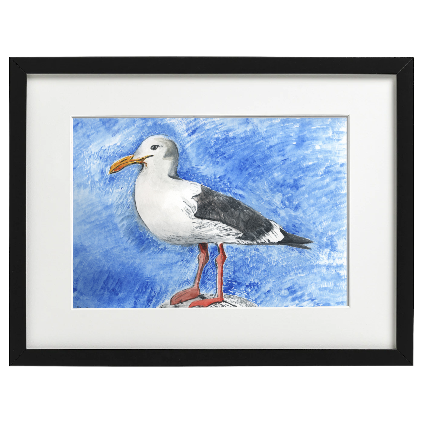 Seagull - watercolour