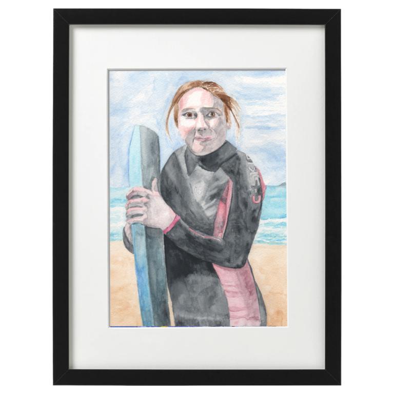 Surf's up! watercolour