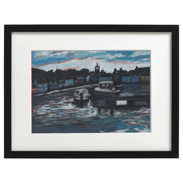 Tarbert Harbour - pastel