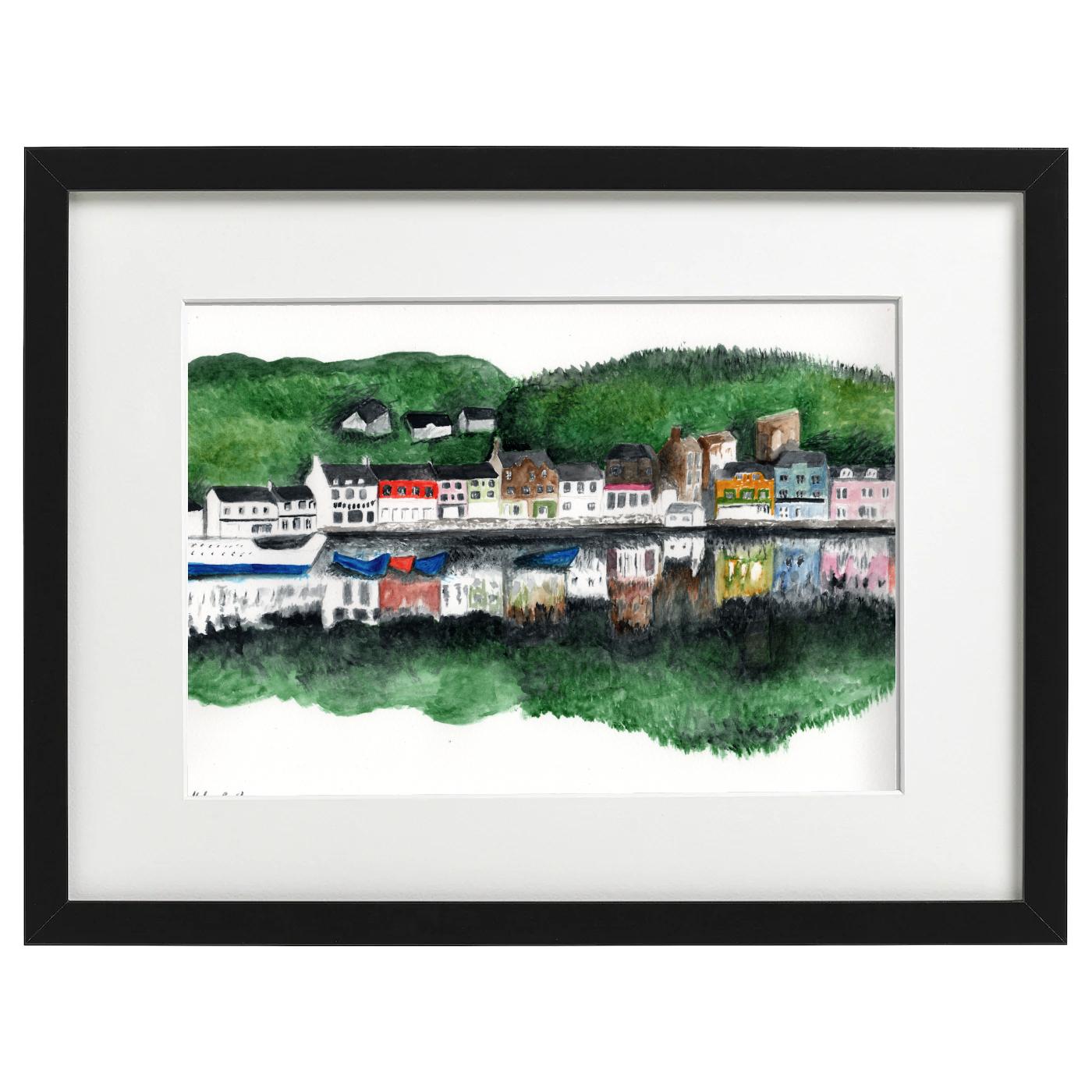 Tarbert Harbour, Argyll, Scotland - watercolour