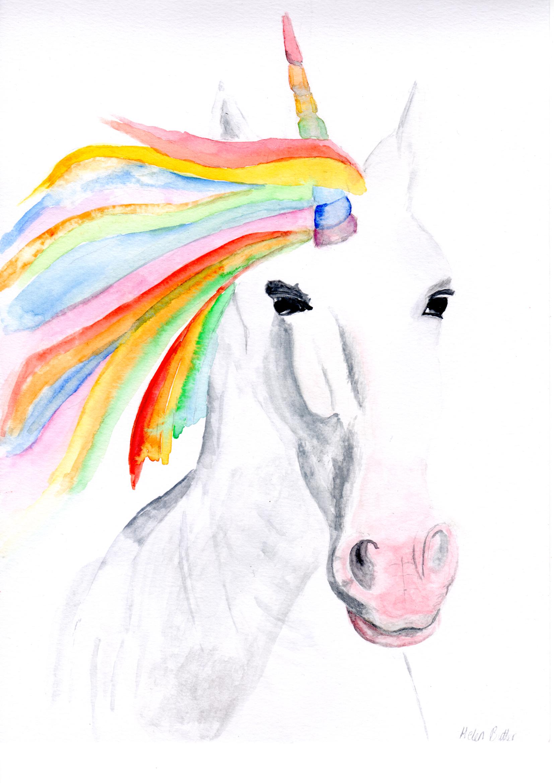 Unicorn watercolour