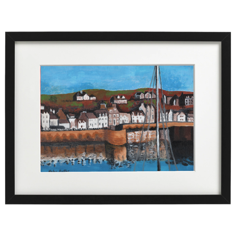 Portpatrick, Dumfries and Galloway - Acrylic A4 canvas board