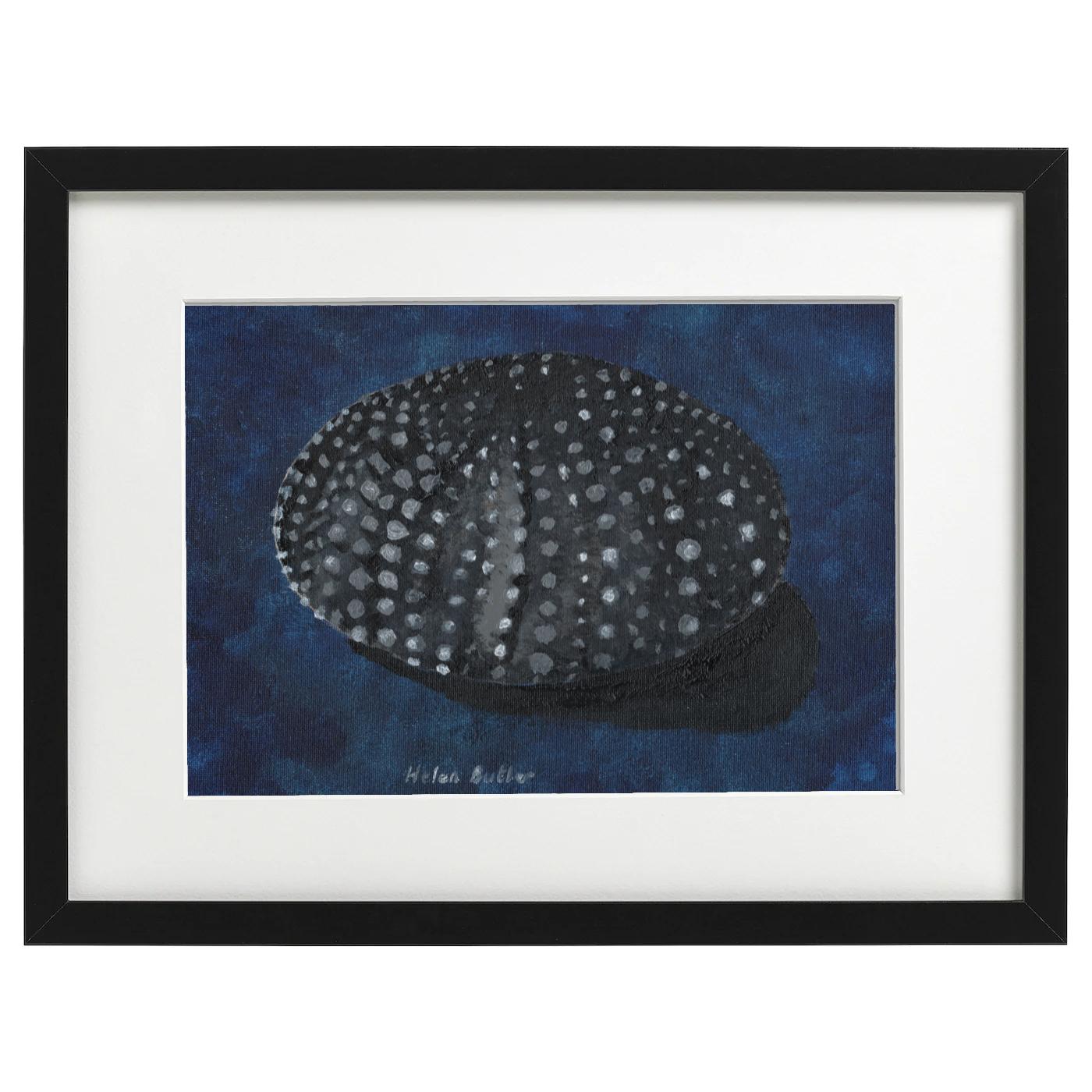Sea urchin shell - acrylic on A4 canvas board